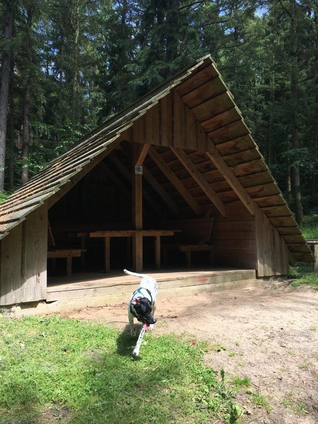 Hütte für müde Wanderer